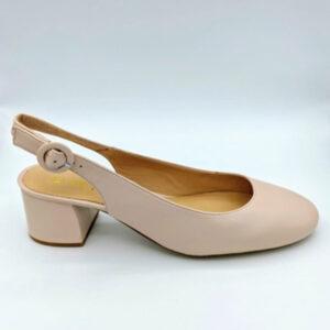 Nude slingback short heel