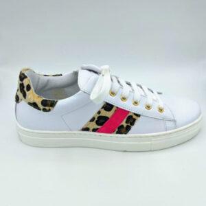 White leopard sneaker