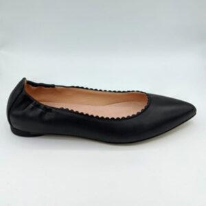 Black pointy shoe
