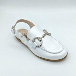 White slingback loafer